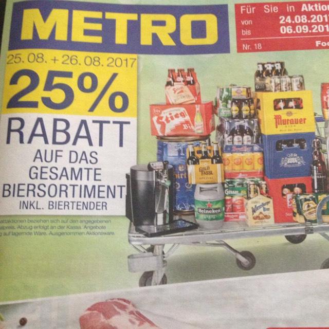 Metro -25% auf Bier