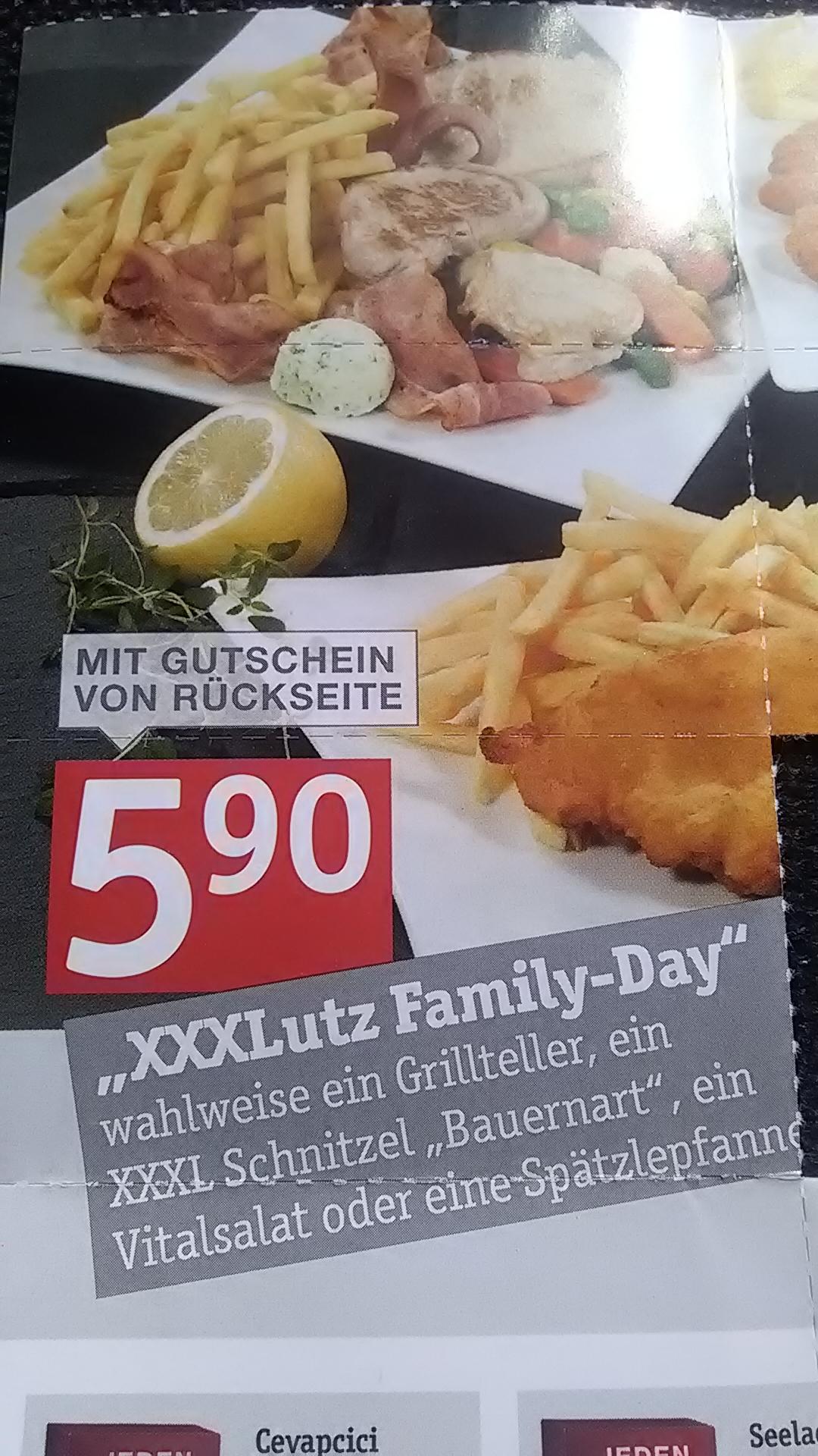 € 5,90: Grillteller + Kinder-Schnitzel + Malrucksack