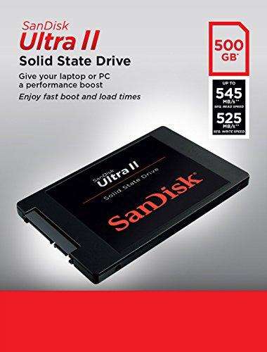 SanDisk Ultra II Interne SSD 500GB Sata III