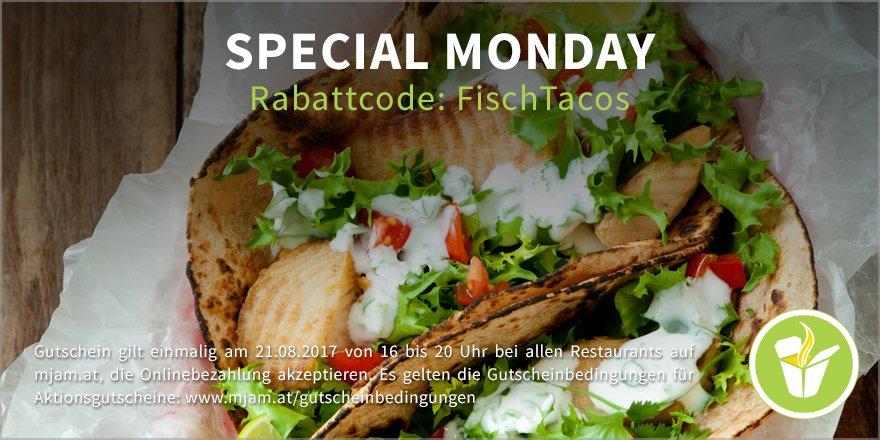 "[Mjam.at] ""Special Monday"" - 16-20 Uhr - 3 € sparen"