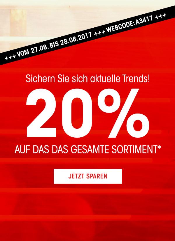 [Adler] 20% auf alle lagernden Artikel ab einem MBW von 80 €