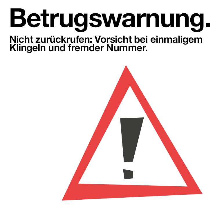 [Warnung] PING-Anrufe aus dem Ausland - nicht zurückrufen!