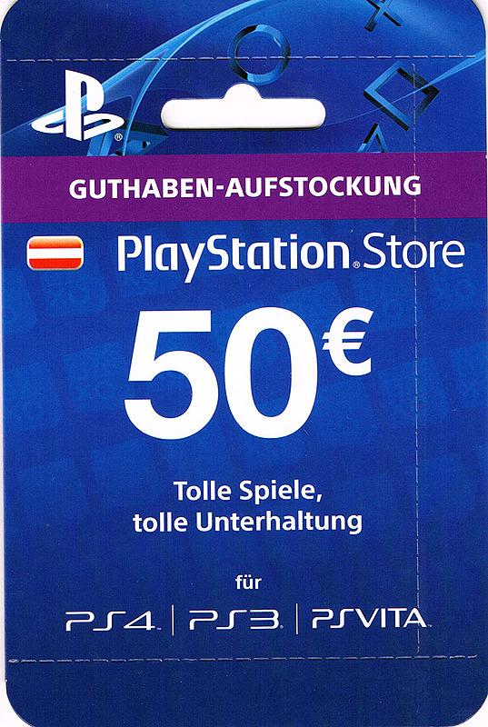 [cdkeys] PlayStation Network Card (AT) 50 EUR für 42,71€ bzw. 40,57€ mit 5% Gutschein