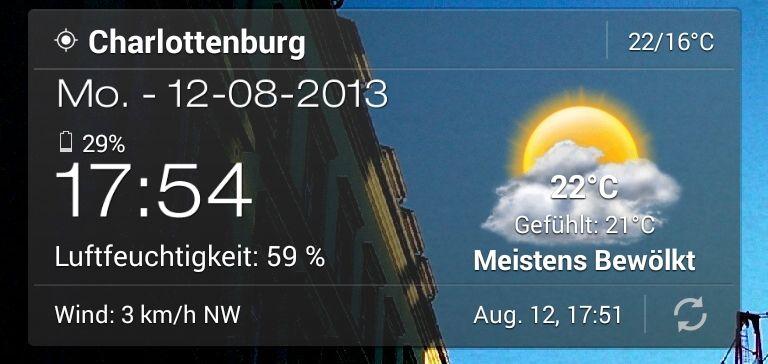 Wetter & Clock Widget für Android