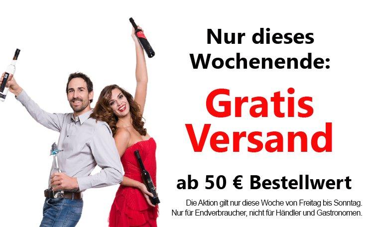 Gratisversand ab 50 Euro bei weisshaus.at (Alkohol)