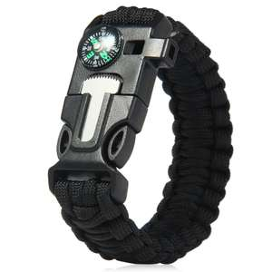 [Gamiss] 5in1 Outdoor Survival Paracord Armband 1,28€