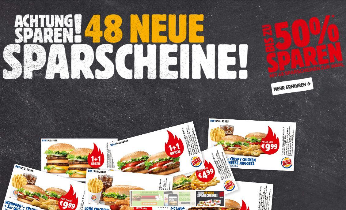 Neue BURGER KING Gutscheine - gültig bis 29.10.