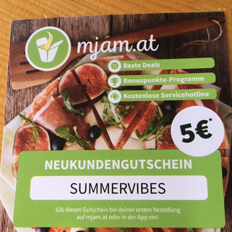 5€ Mjam Gutschein Neukundengutschein