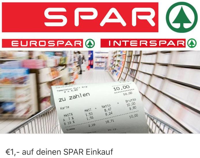 MarktGuru / Spar: 1 € Cashback auf Rechnung ab 10 €