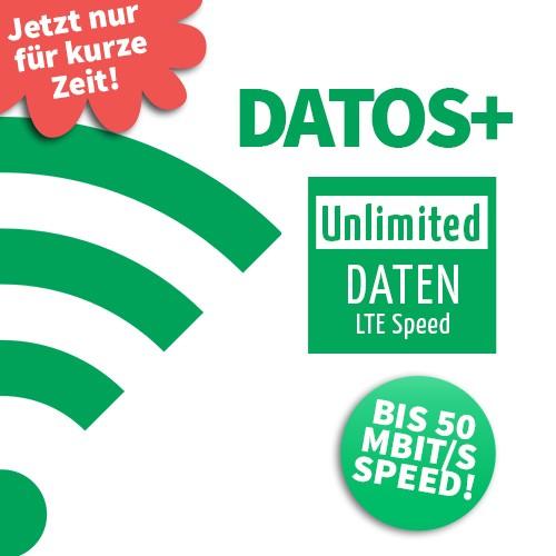 datos+ - der Daten-Tarif exklusiv für Studenten (unlimited Data mit 50Mbit)