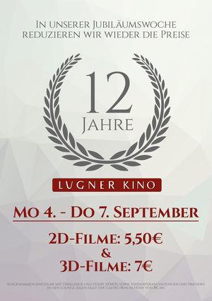 Lugner City Kino - 2D Film für 5,50€ / 3D Film für 7€ - nur bis zum 7. September