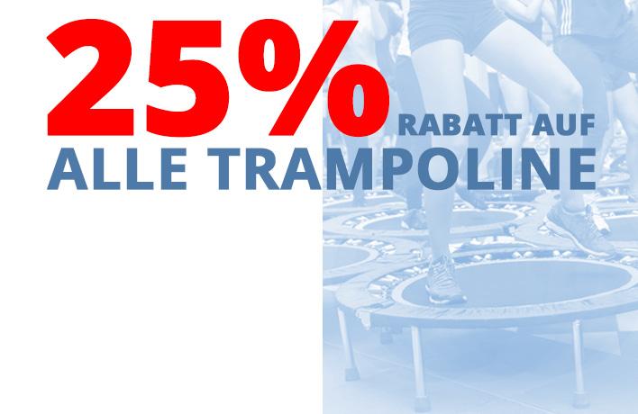 25% Rabatt auf alle Trampoline [mit dem Code: TRAMPOLINSPRINGEN] -> Versandkostenfrei