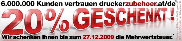 20% Rabatt bei Druckerzubehör.at/de + 3 gratis Artikel *UPDATE*