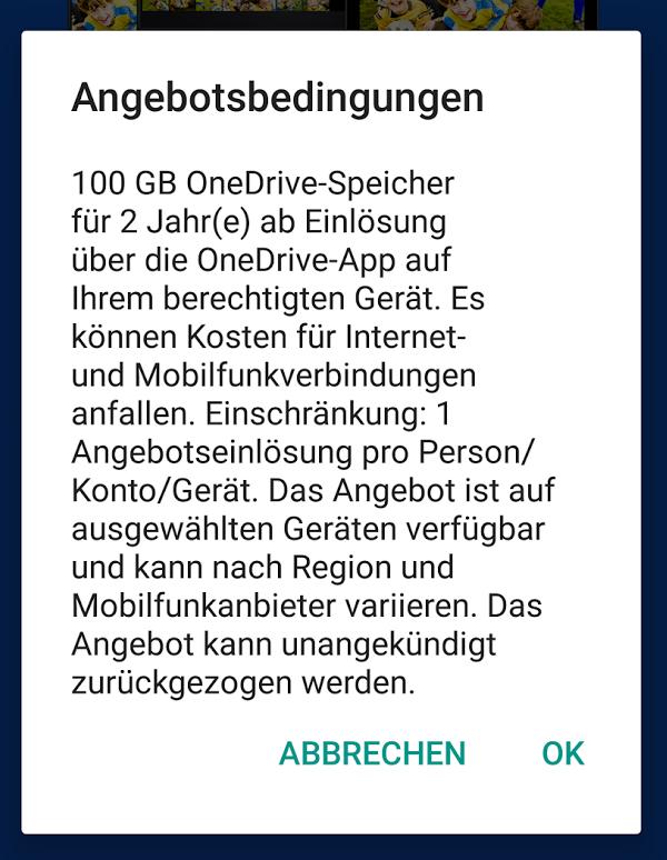 [OneDrive 100GB gratis] Samsung Gerät erforderlich