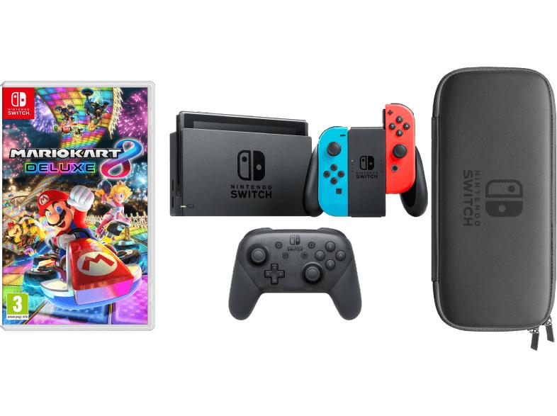 [Saturn] Nintendo Switch + Mario Kart 8 + Pro Controller + Tasche & Schutzfolie