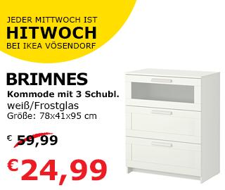 "Ikea Vösendorf Tagesangebot: Kommode ""Brimnes"""