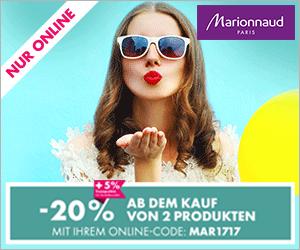 [marionnaud] 20% ab einem Kauf von zwei Produkten - nur online bis 17.9.2017