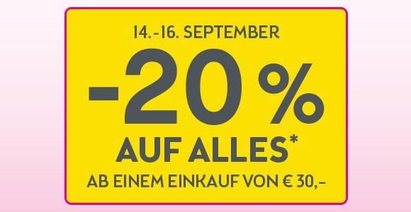 www.bipa.at - -20% AUF ALLES* Ab einem Einkauf on€ 30,-- vom 14 bis 16 September
