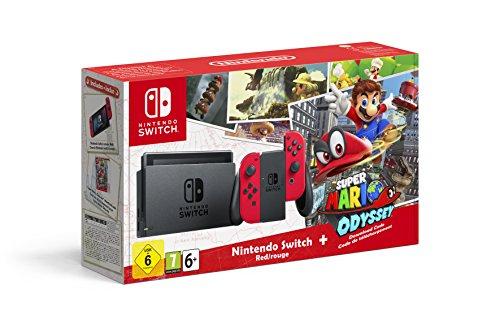 Jetzt vorbestellbar: Das Nintendo Switch Bundle mit Super Mario Odyssey, roten Joy-Con-Controllern und Tasche! um 389,99€