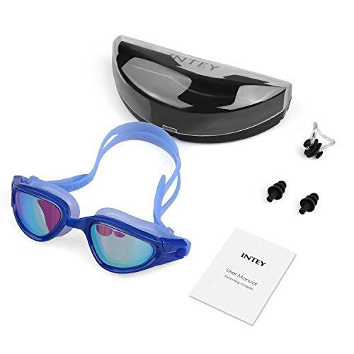 INTEY Schwimmbrille mit Verstellbares Silikonband und Antibeschlag-Schutz Taucherbrille