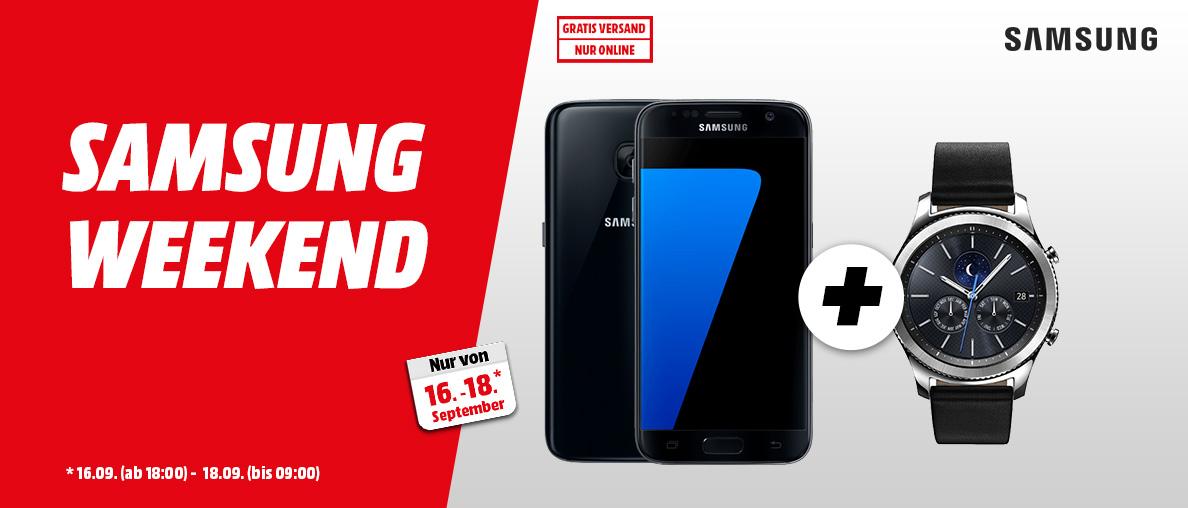 Samsung Weekend bei MediaMarkt - S7 plus Gear S3 Classic dazu um 499€