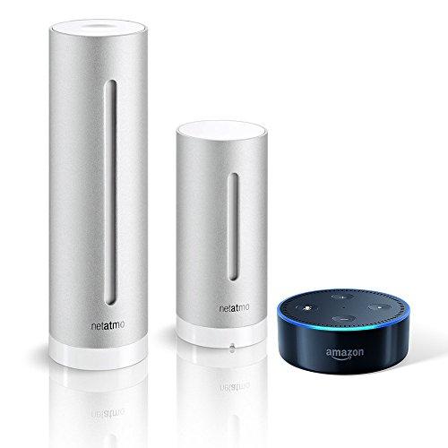 Amazon Echo Dot (2. Generation), schwarz inkl. Netatmo Wetterstation