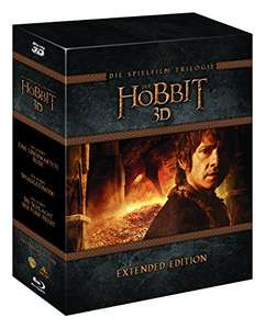 Amazon.de: Der Hobbit Box Extended Edition (3D Blu-ray auf 15 Discs) um 27,19€