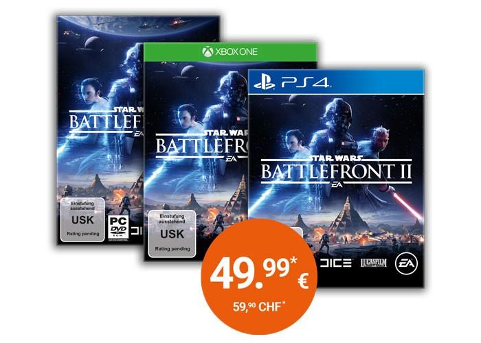 Müller: Star Wars Battlefront II (PlayStation 4 / Xbox One) für 49,99€ vorbestellen