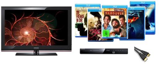 "46"" FullHD LCD Samsung LE46B530 + Blu-ray Player + 10 Blu-rays + HDMI Kabel für 799€ bei Amazon *Update* Preisfehler"