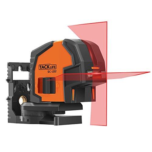 Tacklife SC L02 Klassischer Kreuzlinien-Laser mit Messbereich 20M um 66,59€ statt 89,99€