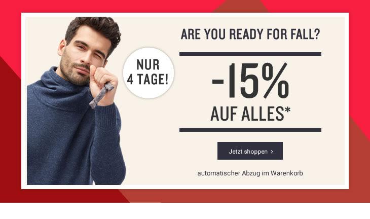 Tom Tailor: 15% Rabatt auf alles! - nur bis zum 24. September