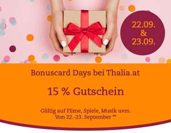 Thalia: 15% Rabatt auf Filme, Musik & mehr - nur am 22. und 23. September