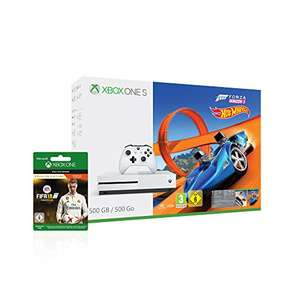 Xbox One S 500GB Konsole - Forza Horizon 3 Hot Wheels Bundle inkl. FIFA 18 Ronaldo Edition als Downloadcode [Amazon Tagesangebot] + 6.50€ Rabatt auf Gold Mitgliedschaft 3 Monate