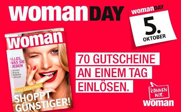 Woman Day - 20% auf Alles - am 5.10.2017