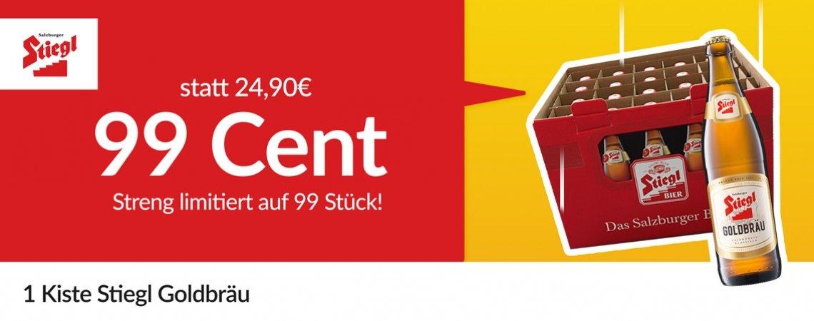 iamstudent Student Week vom 1. bis zum 6. Oktober - u.a. mit Stiegl Goldbräu Kiste (20x) für 0,99€ inkl. Versand
