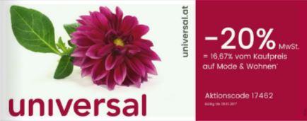 Universal.at: - 20% auf Mode & Wohnen