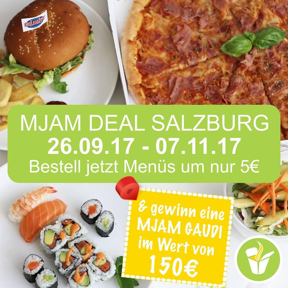 [mjam.at] Salzburg Deal - ein Menü um 5€ vom 26.09.- 07.11. nach Hause bekommen.