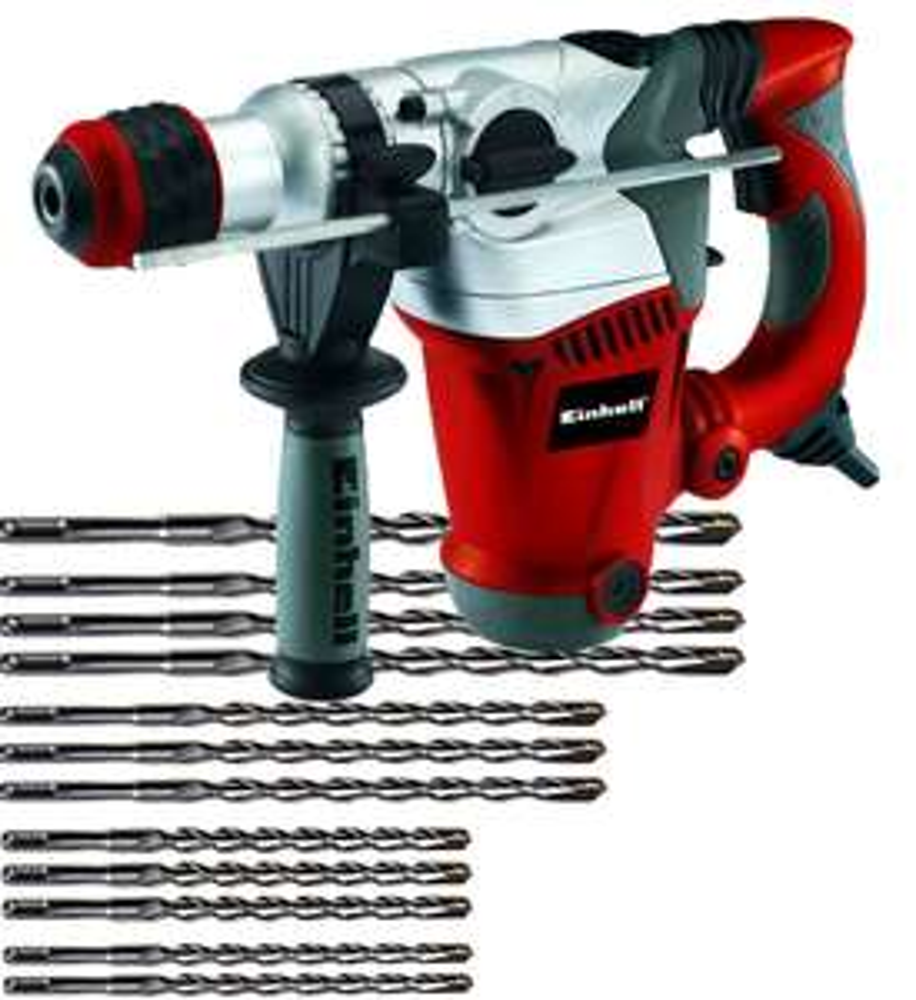 [Zgonc] Einhell Bohrhammer RT-RH 32 + 12tlg. Einhell SDS-plus Bohrer- und Meissel Set für 99 € - 16% Ersparnis