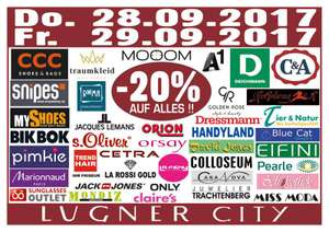 Lugner City: 20% Rabatt in 40 Shops - nur am 28. und 29. September