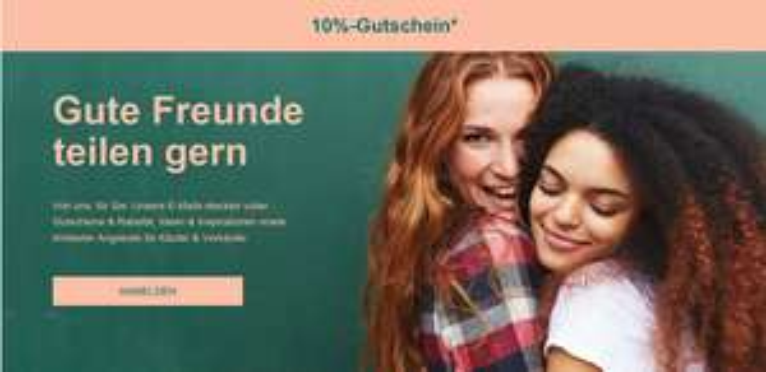 eBay.de 10% Gutschein auf ALLES für Newsletter-Anmeldung