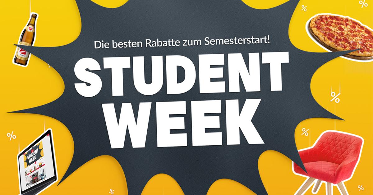 Alle Student Week Angebote im Überblick (tw. auch nicht Studis)