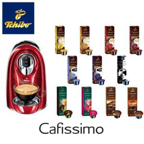[Ebay.de] TCHIBO/Eduscho Cafissimo COMPACT Kaffeemaschine + 110 Kapsel für 40€ inkl. Versand (Logoix)
