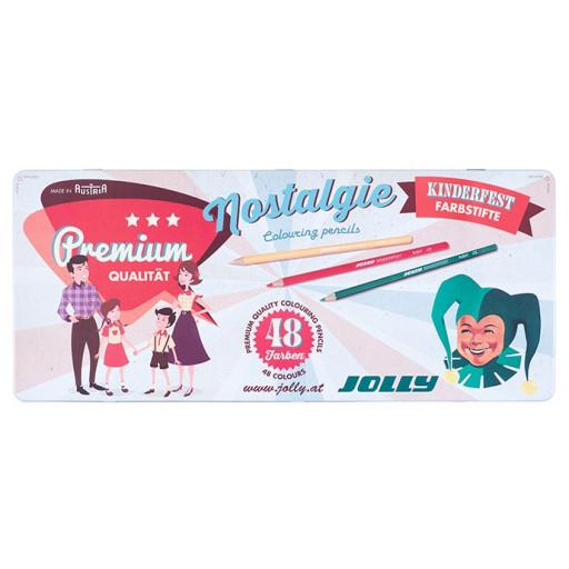 [Libro] JOLLY Buntstifte Kinderfest 48 Stk. Nostalgie Edition in Metalletui für 15,58 € statt 36,59 €