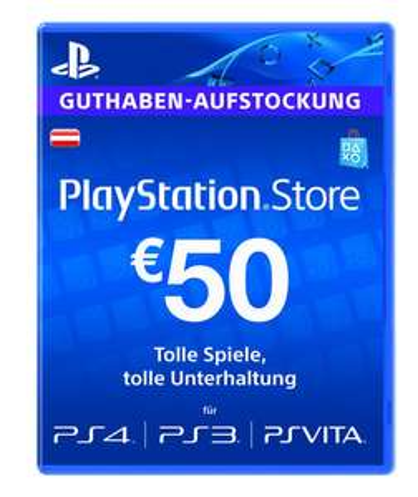50 / 20 Euro PSN Guthaben (Austria) für 39,89 / 16,61 Euro mit 5% Gutschein