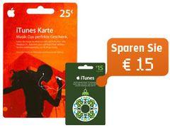 Aktion: 25€ iTunes Karte + 15€ Karte geschenkt bei Gravis und 12 Geschenke von iTunes