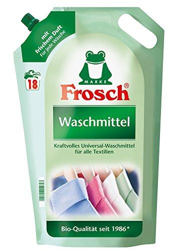 [www.AMAZON.de]  Frosch Flüssig Waschmittel, 5er Pack (5 x 18 Waschladungen)  für € 10,25 für exklusiv Prime Kunden PVG € 24,75 PVG €