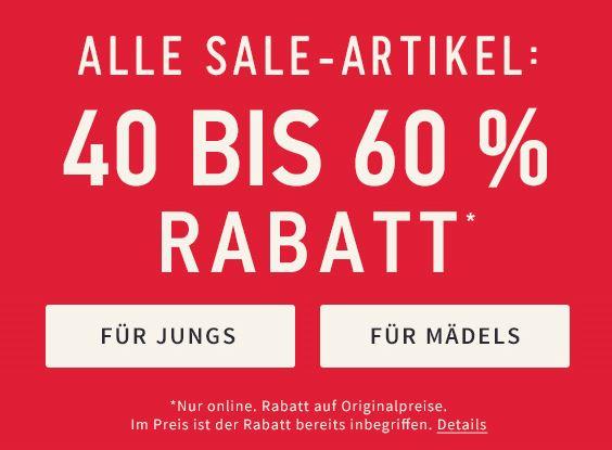 [Hollister-Onlineshop] -40 bis -60% auf alle Sales Artikel  dieses Wochenende +keine Versandkosten