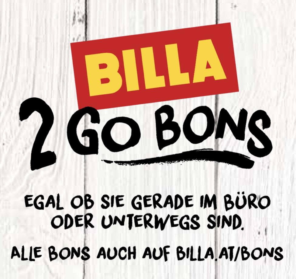 BILLA 2 Go Bons - gültig bis 8.11.2017