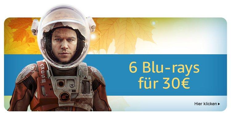 6 Bluray's für 30€ bis 15.10 bei [Amazon]