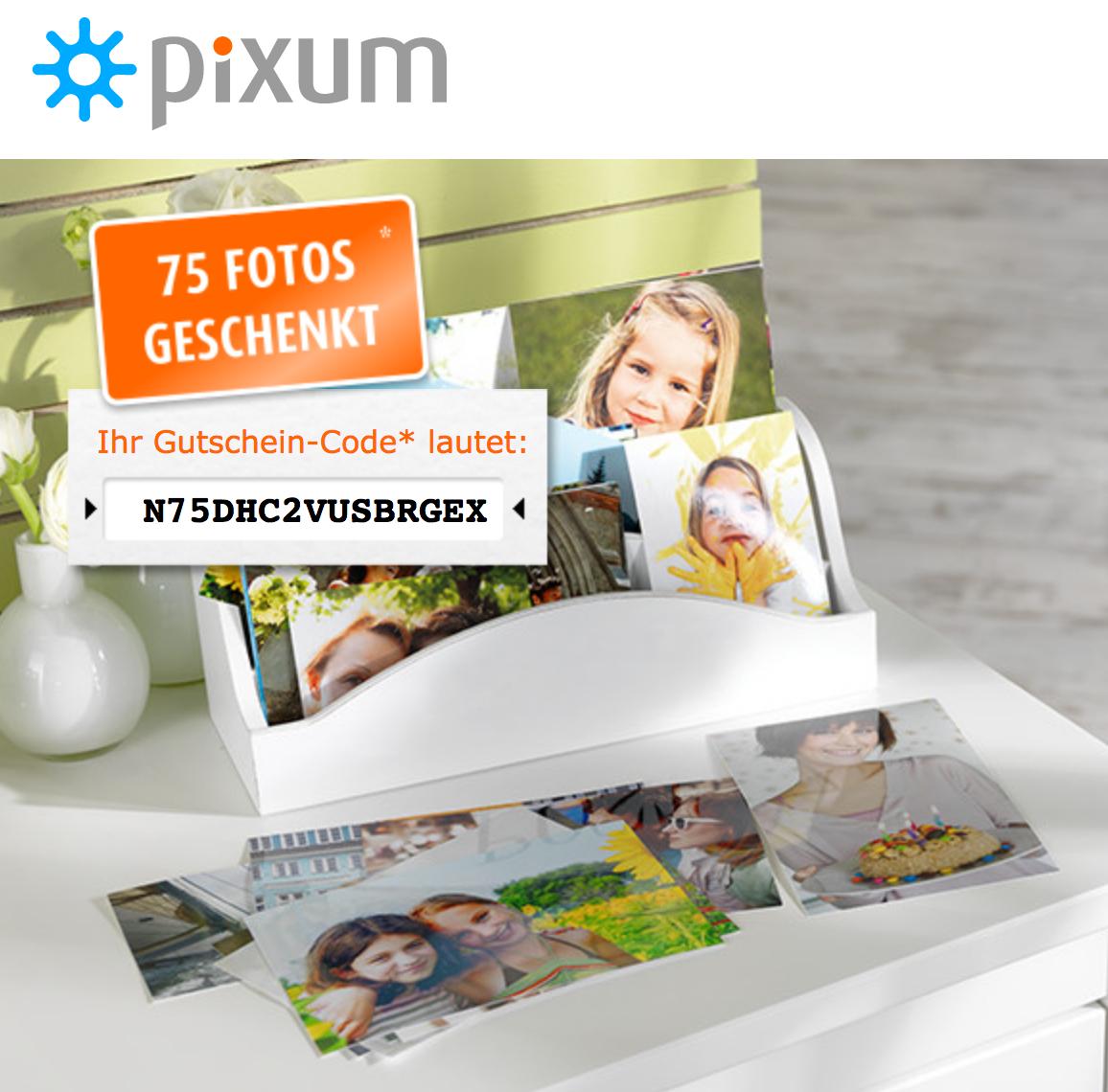 Pixum: 75 Fotos inkl Versand um 3,99 € - statt 15,24 € - 74%